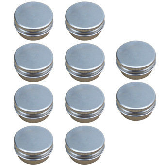 10 PCS 15G Mini Empty Aluminum DIY Homemade Travel Nail Art LipBalm Cosmetic Samples Body Cream Lotion Container