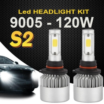 120W 9005 HB3 12000LM COB LED Car Headlight Kit White Beam 6000K Bulb 2-Side - intl