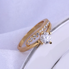 18k god pated ring one big and any a rhinsetone wedding ring - Wedding Ring Prices