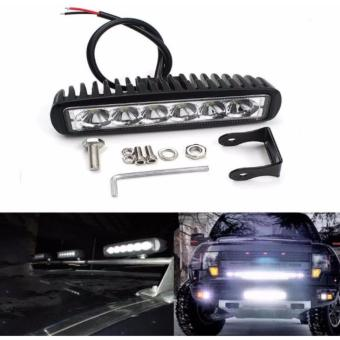 18W 6Led Flood Beam Work Lamp Driving Fog Offroad SUV 4WD Car Boat Truck