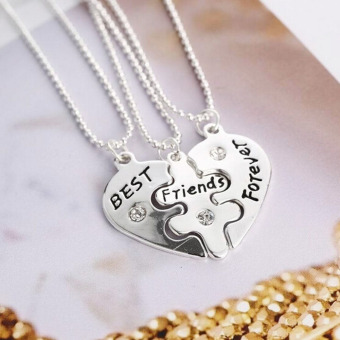 1Set Best Foever Friend Friendship Symbolic Token Lucky PendantNecklace - intl