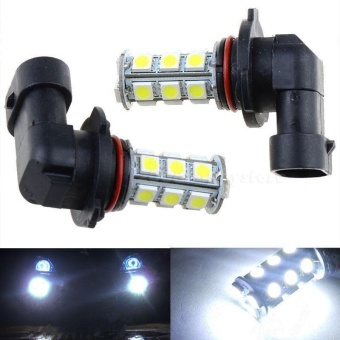 2pcs 12V HB3 9005 18SMD 5050 LED White LED Car DRL Fog Driving Headlight Bulb Lamp - intl