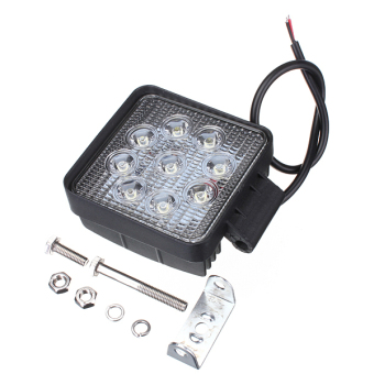 2PCS 27W Square 9 LED DC 10-30V Work Light Truck ATV Boat SUV Offroad Lamp Bulb
