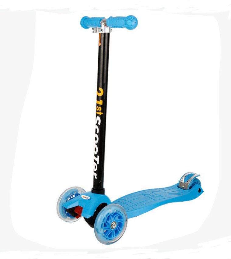4 Wheeled Frog-kick Scooter for Kids (Blue) | Lazada PH