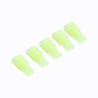 5 pairs Male Female Green Mini Tamiya Plug Unwired Connector Airsoft RC NiMH - intl