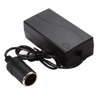 60W Vehicle Power Converter 100V - 240V AC to 12V DC BatteryAdapter Car Cigarette Lighter Socket Black(Color:Black) - intl