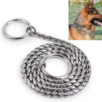 65cm Pet P Chain Pet Collars Pet Neck Strap Dog Neckband SnakeChain Dog Chain Dog Collar - intl