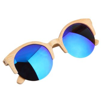 Bamboo Sunglasses Philippines  allwin new half round sunglasses full eyewear bamboo frame glasses