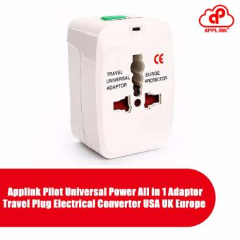 applink Pilot Universal Power All in 1 Adaptor Travel Plug Electrical Converter USA UK Europe