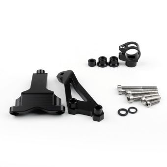 Areyourshop Motorcycle Steering Damper Bracket Set For KTM DUKE125/200/390 2013-2015 Black - intl