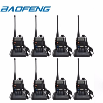 BAOFENG UV-5R Dual Band (VHF/UHF) Analog Portable Two-way Radio SET OF 8