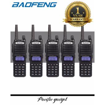 Baofeng UV-82 HP 8W Dual Band VHF/UHF Two Way Radio SET of 5(Black)