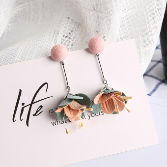 Beach exaggerated elegant flower earrings