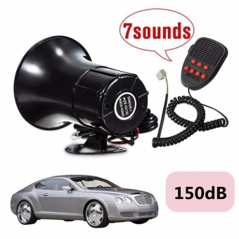 Car Van Truck Boat Horn Sound Loud 12V 50W Loud 7 Sounds Tone HornSiren Speaker Alarm for Car Motor Van Truck - intl