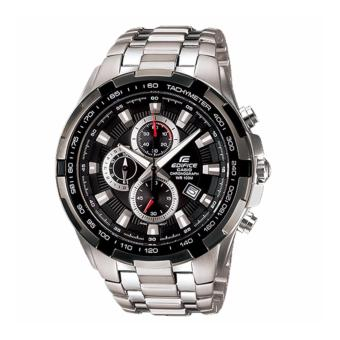Casio Edifice EF-539D-1A Tachymeter Men's watch silver