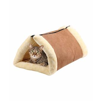 Cat and Pets 2 in 1 Tunnel Bed and Mat Kitty Shack