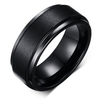 Cool Men Tungsten Carbide Ring Pure Tungsten Black Rings for Men Jewelry 8mm Wide Men Wedding Engagement Rings