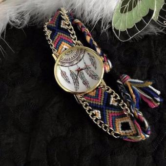Geneva Yarn Vintage Dream Catcher Feathers Design (Strap Color may Vary)