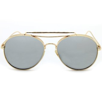 GENTLE MONSTER Gun Metal 10mm Thick Frame Sunglasses (Gold ...