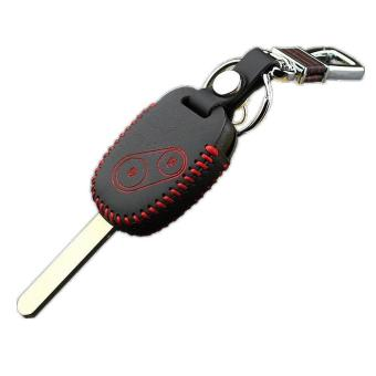 Genuine Leather Car Key Cover Case For Honda Accord CRV Fit CIVICODYSSEY City 2 Buttons Car Key - intl