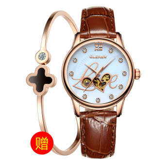GLEN female porous small clover analog watch watches