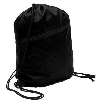 Gracefulvara Drawstring Backpack Tote Bag Cinch Sack School BagSport Bag (Black)