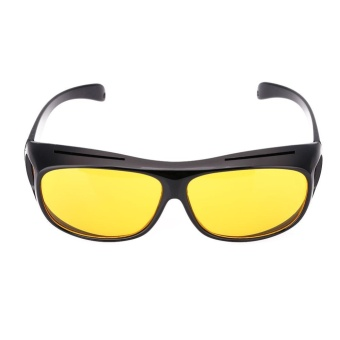 HD Yellow Lens Polarized Sunglasses Night Vision UV400 Glasse For Women Sports - intl