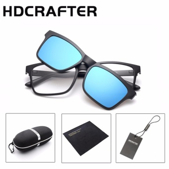HDCRAFTER Brand Magnetic Clip Retro TR90 Sunglasses Polarized Lens Vintage Unisex Eyewear Accessories Sun Glasses For Men/Women - intl