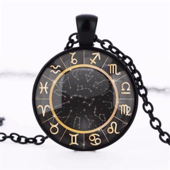 Hequ New Fashionable Stylish Chinese twelve hieroglyph zodiac signpicture wedding or birthday gift locket necklace T663 - intl