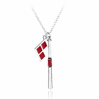 Hequ New Suicide Squad Harley Quinn Baseball Bat Pendant NecklaceWomen And Men Jewelry - Intl
