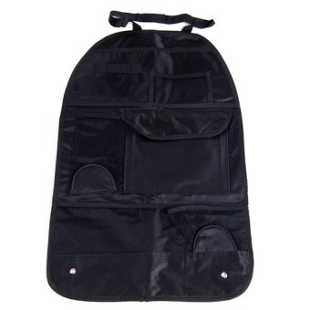 High quality Waterproof fabric Car Auto Vehicle Seat Back StoragePocket Backseat Hanging Storage Organizer Bag blck