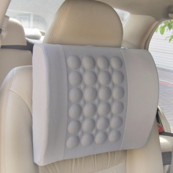 Household Electric Massage Pillow for Car Office Chair-Grey - intl
