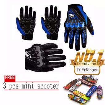 JAPAN and USA best selling free 3pcs mini scooter Motorcycle GlovesTouring & Racing (Black/white)