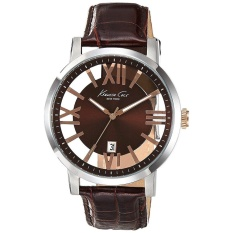 kenneth cole kenneth cole watches for prices kenneth cole watch transparency brown stainless steel case leather strap mens nwt warranty ikc8010