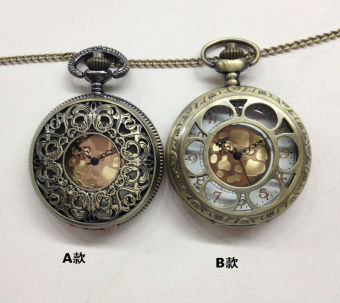 Korean-style Large Porous varved pocket watch