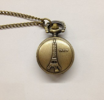 Korean-style small tower pocket watch