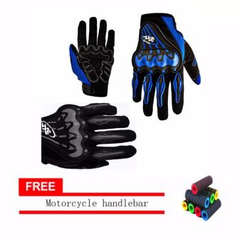 lazada and USA best selling Motorcycle Gloves Touring & Racing(Black/white) With Motorcycle handlebar sleeve
