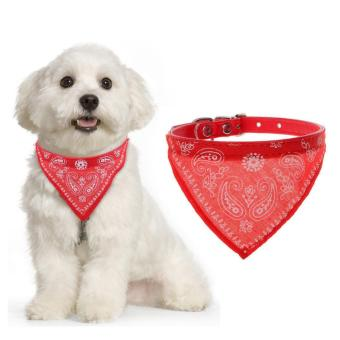 Lovely Pet Dog Puppy Cat Neck Scarf Bandana with Adjustable PUCollar Neckerchief (Small)