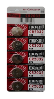 Maxell Lithium Battery CR2032 Pack of 5