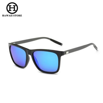 Men's Metal Polarized Sunglasses Unisex Retro Aluminum+TR90 Sunglasses Polarized Lens Vintage Eyewear Accessories Sun Glasses - intl