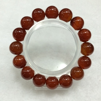 Men's natural lucky prayer beads Red agate bracelet