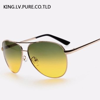 Men's sunglasses day and night driving glasses Polarized sunglasses metal frame sun glasses for men vintage Polaroid lens brand
