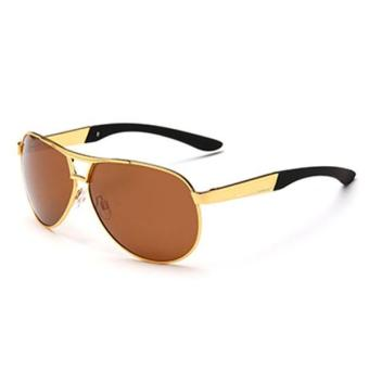 Men's Driving Eyewear Sun Glasses UV400 Polarized Sunglasses - intl