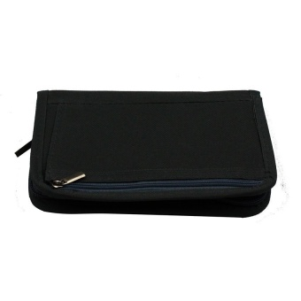 Mini Passport Holder (Black) with Free Security Credit Card Wallet(Blue)