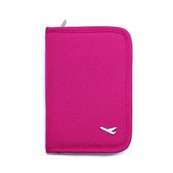 Mini Passport Holder (Pink) with Free Free Security Credit CardWallet (Gold)