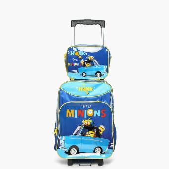 Minions I Honk Trolley Backpack with Lunch Bag