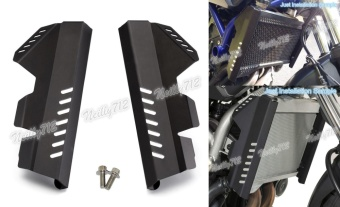 Motorcycle 2pcs Radiator Side Guard Cover Protector For YAMAHAMT-07 FZ-07 MT07 FZ07 2014 2015 2016 Black - intl