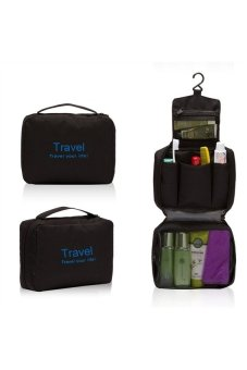 Multi Function Hand Wash Bag Toiletry and Travel Cosmetic BagOrganizer (Black)
