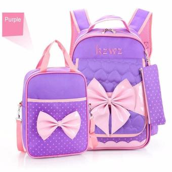 New Fashion Children School Bags for Girls Backpack Female Kid BagChild Printing Backpacks for Teenage Girls Bow Suit - intl