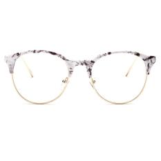 stylish glasses frames 996w  New Optical frames Metal Plain mirror Retro Vintage Round Eyewear Nerd Stylish  Eyeglasses Hipster Myopia White Shell